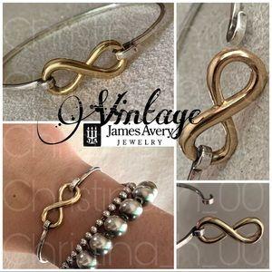 Retired GOLD infinity James Avery hook bracelet